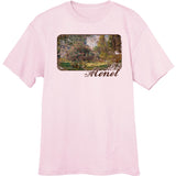 Monet-s-Park-Monceau-painting-Novelty-T-Shirt-Lt-Pink