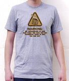 Beer Warning Funny Graphic American Apparel Novelty T Shirt  Z13017-AA2001