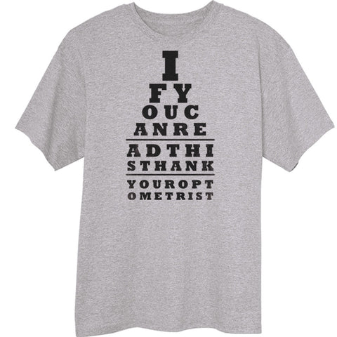 Thank Your Optometrist Funny Novelty T Shirt Z13448