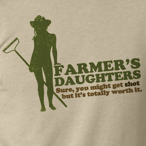 Farmers Daughters Funny Novelty T-Shirt