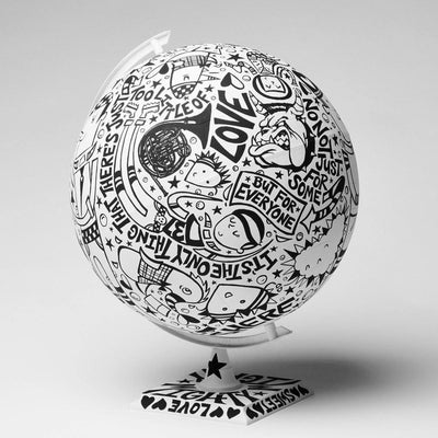 What The World Needs Now Is Love Globe | Fine Art and Limited Edition Prints | The Art Of Nan Coffey