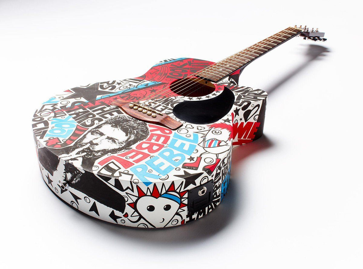 Bowie Guitar | Fine Art and Limited Edition Prints | The Art Of Nan Coffey