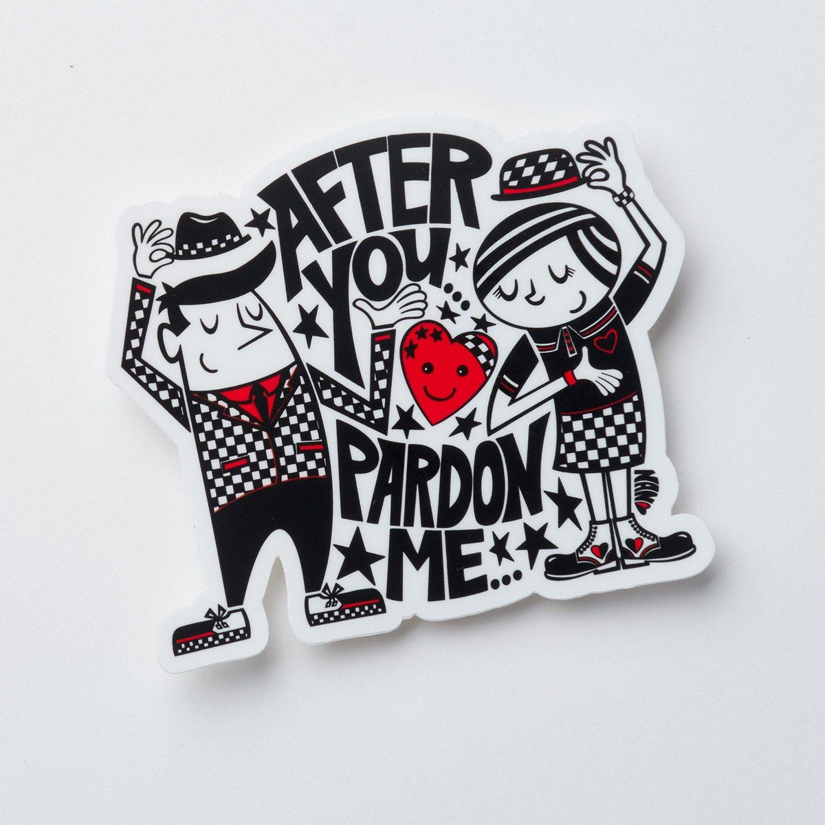 After You/Pardon Me - Pin and Stickers Bundle | Fine Art and Limited Edition Prints | The Art Of Nan Coffey