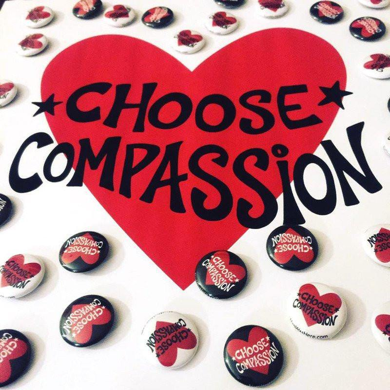 Button Pins | Choose Compassion Logo | Fine Art and Limited Edition Prints | The Art Of Nan Coffey