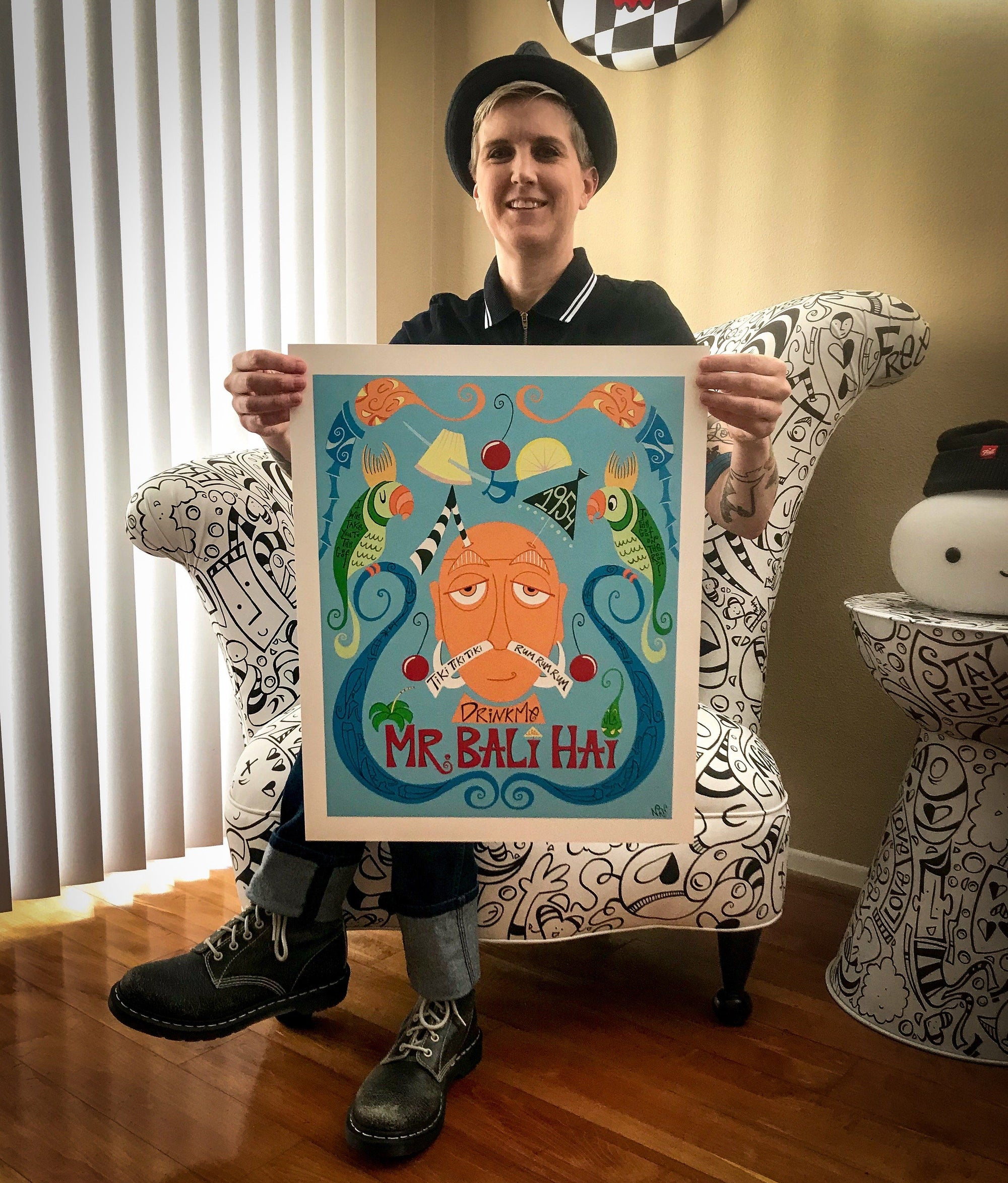 Official Mr. Bali Hai 60th Anniversary - Artist Proof Print | Fine Art and Limited Edition Prints | The Art Of Nan Coffey