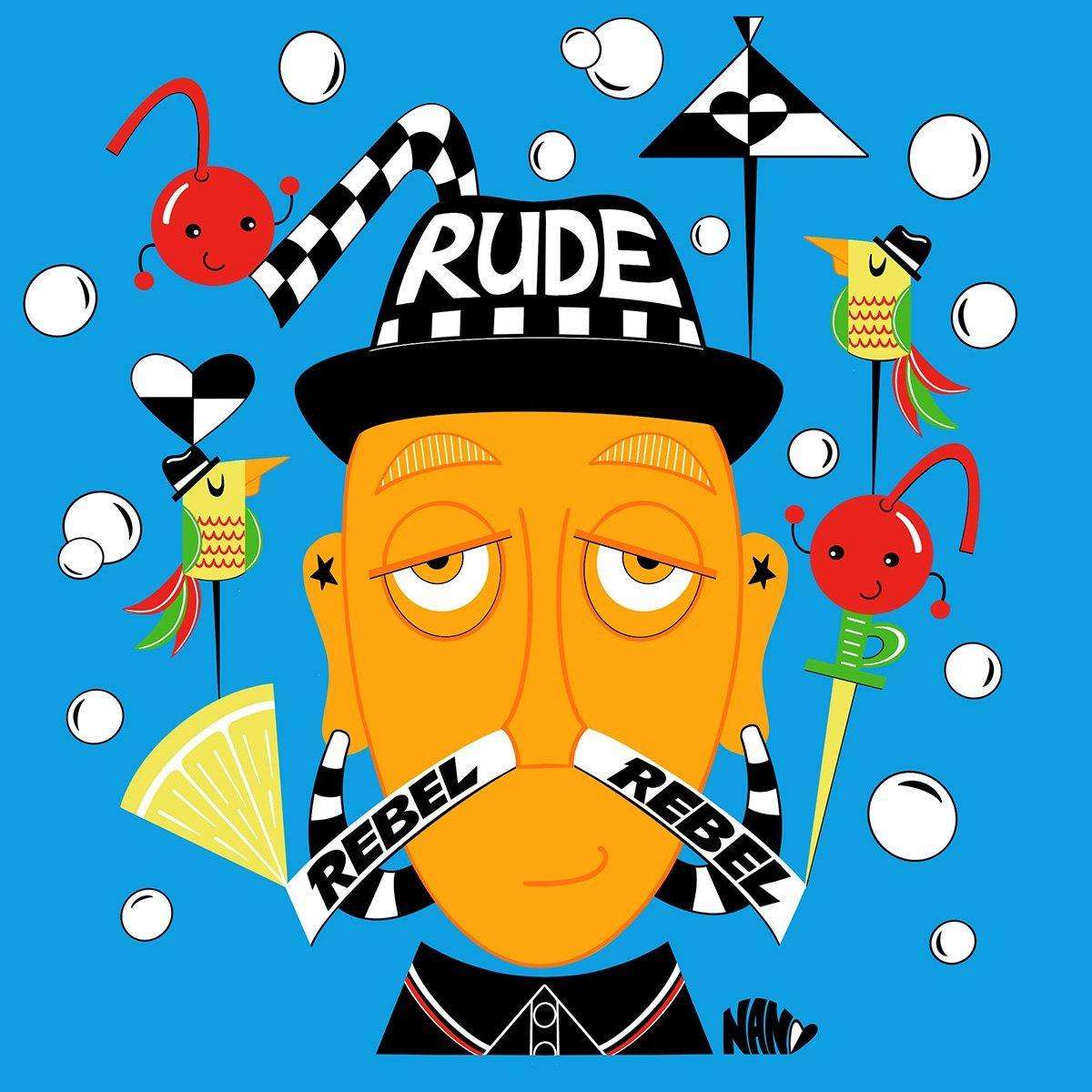 Rude Boy Mr. Bali Hai | Fine Art and Limited Edition Prints | The Art Of Nan Coffey