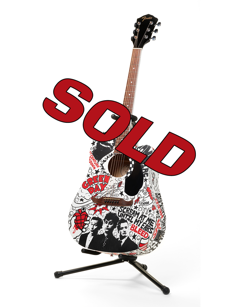 Green Day Guitar - The Art Of Nan Coffey