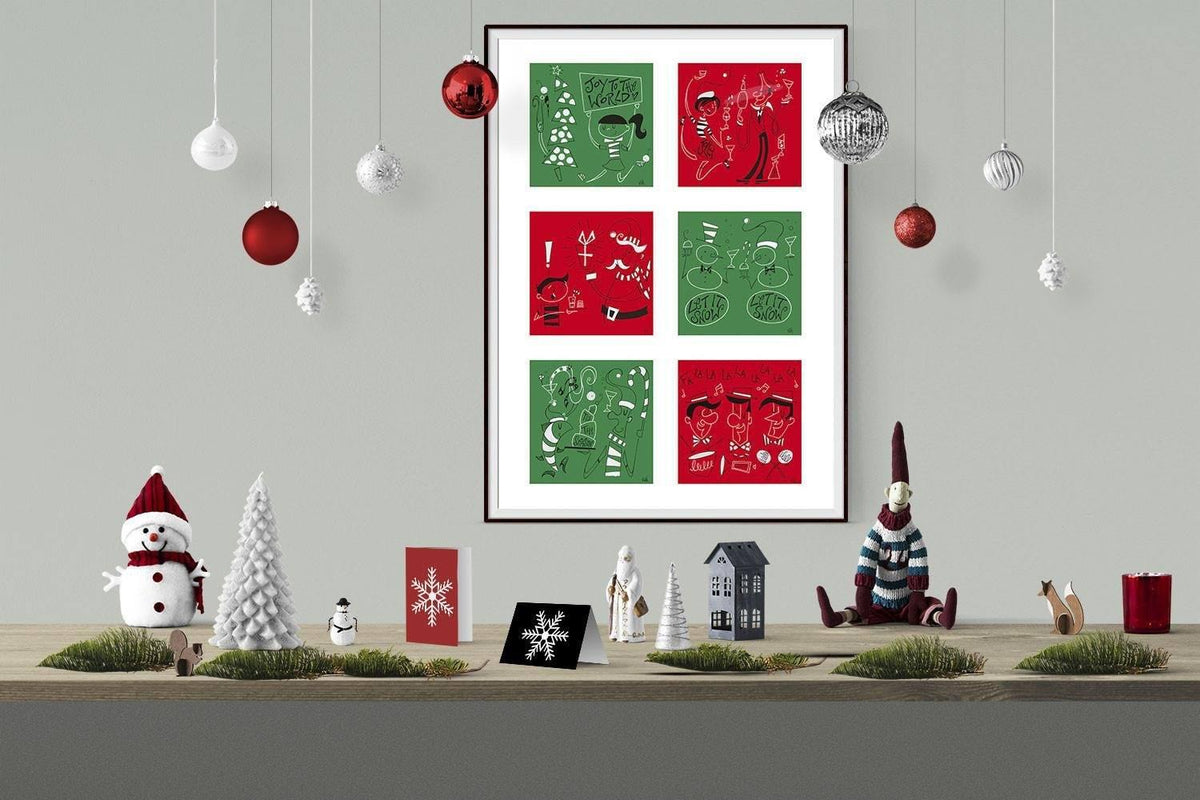 Christmas Six in One - Prints | Fine Art and Limited Edition Prints | The Art Of Nan Coffey