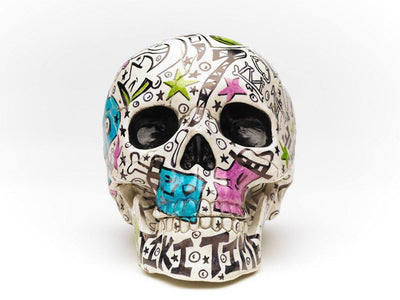 Skull | Tiki Bone Daddy | Art All Over | Fine Art and Limited Edition Prints | The Art Of Nan Coffey