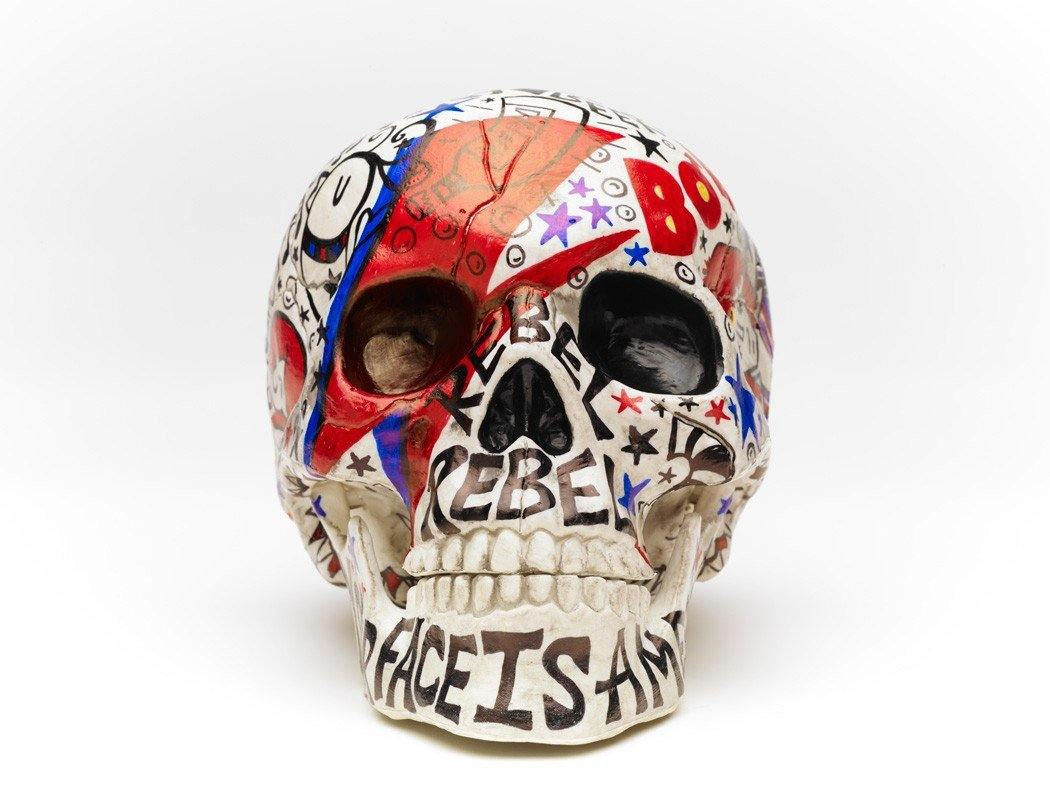Skull | Bowie | Art All Over | Fine Art and Limited Edition Prints | The Art Of Nan Coffey