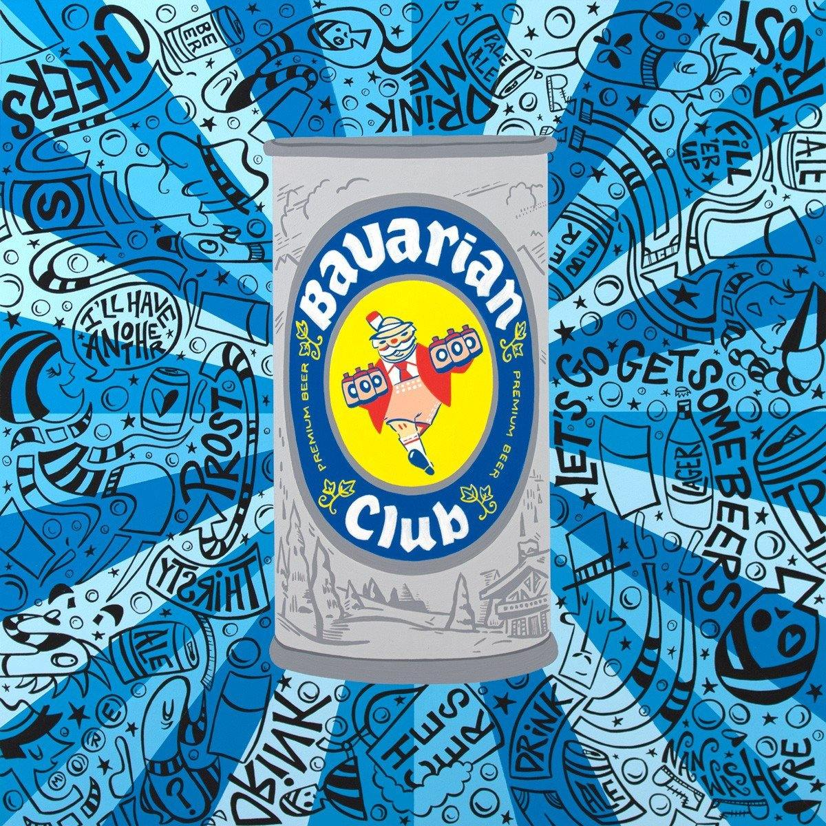 Bavarian Club Beer Can - Signed Prints | Fine Art and Limited Edition Prints | The Art Of Nan Coffey