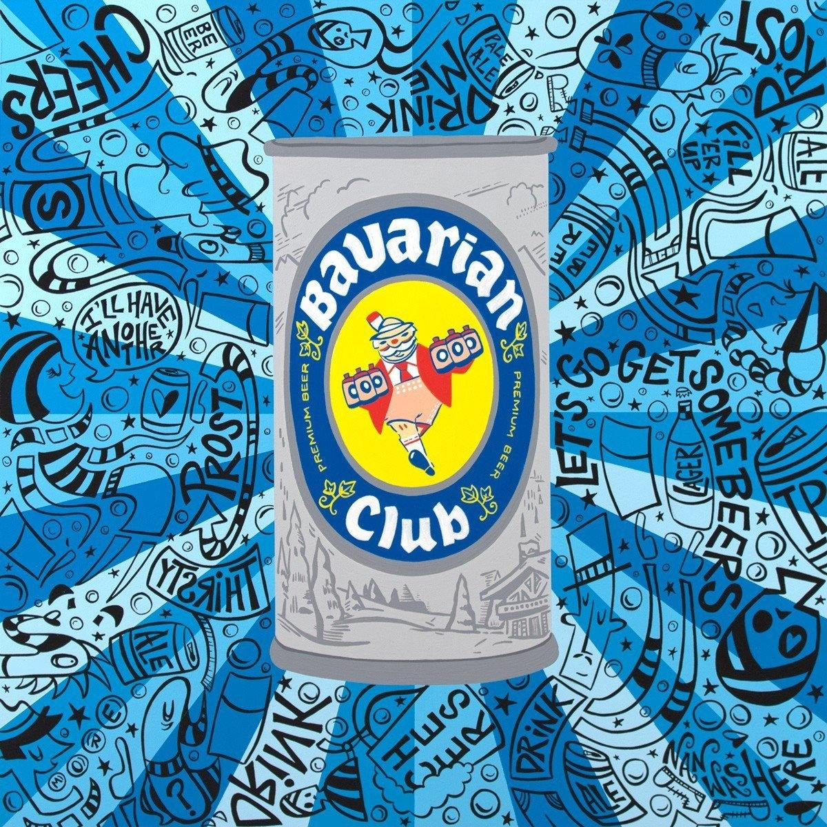 Bavarian Club Beer Can - Original | Fine Art and Limited Edition Prints | The Art Of Nan Coffey