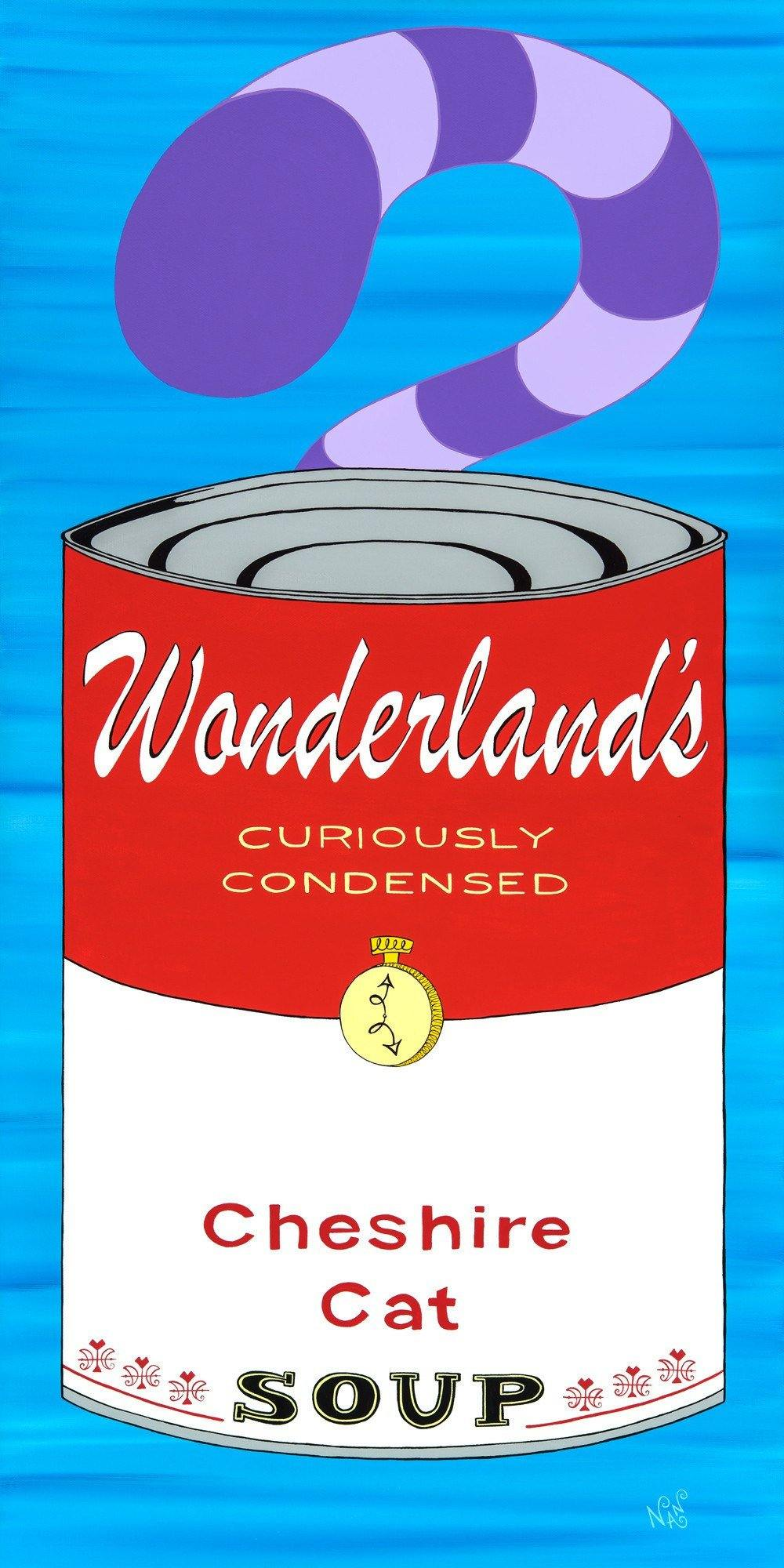 Cheshire Cat Wonderland Soup Can - Signed Prints | Fine Art and Limited Edition Prints | The Art Of Nan Coffey