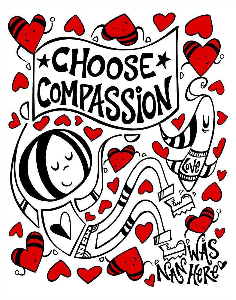 Choose Compassion - Original | Fine Art and Limited Edition Prints | The Art Of Nan Coffey