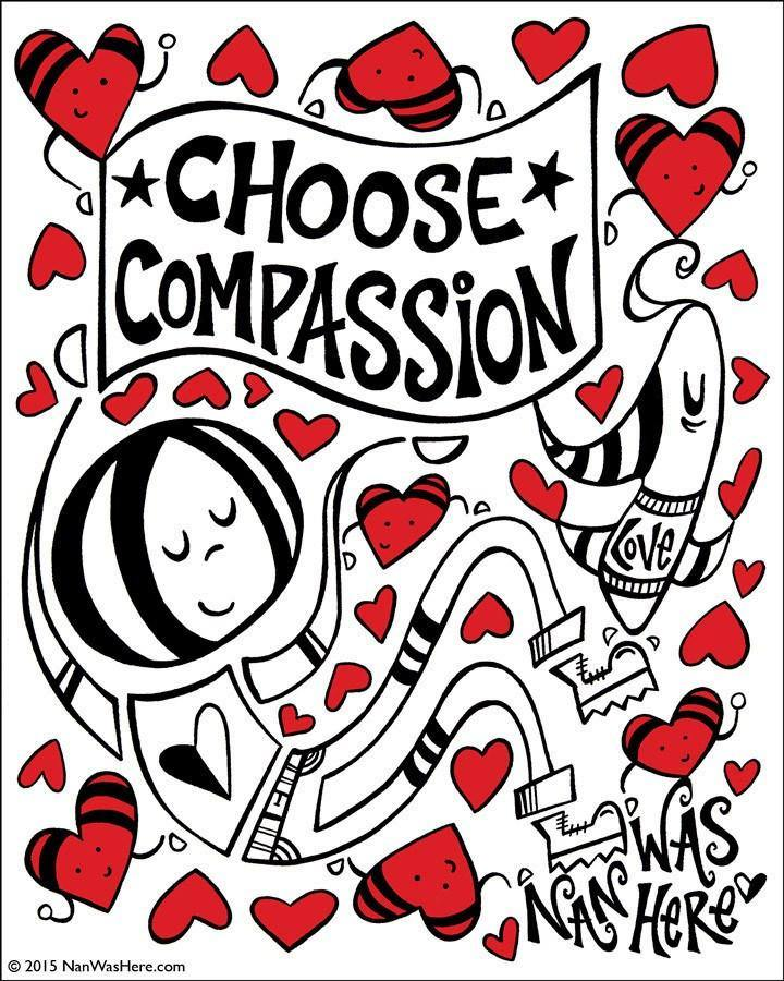 Sticker | Choose Compassion - The Art Of Nan Coffey