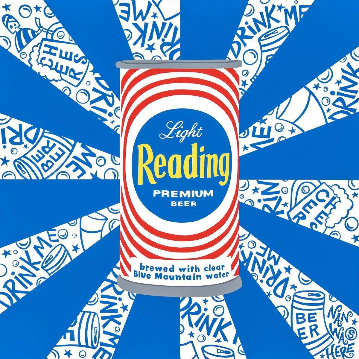 Light Reading Beer Can - Original | Fine Art and Limited Edition Prints | The Art Of Nan Coffey
