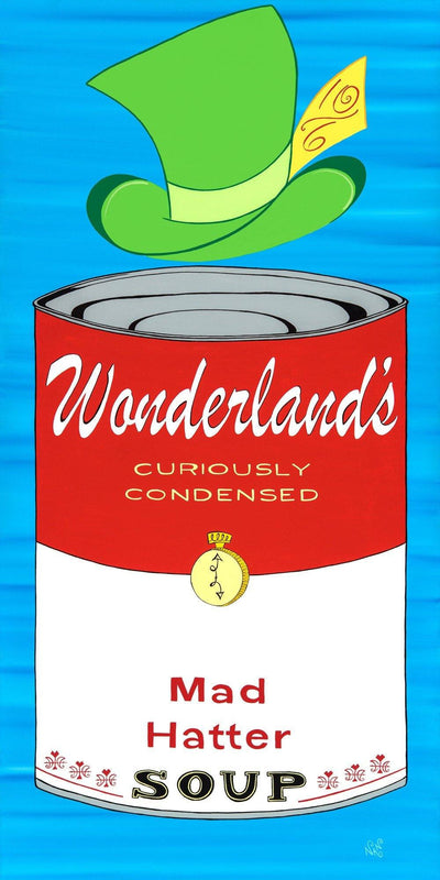 Mad Hatter Wonderland Soup Can - The Art Of Nan Coffey