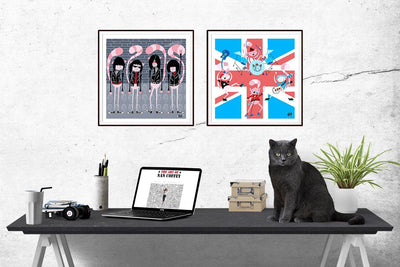 Cat City Rockers - Signed Prints | Fine Art and Limited Edition Prints | The Art Of Nan Coffey