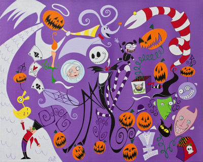 Haunted Holiday - Original Painting