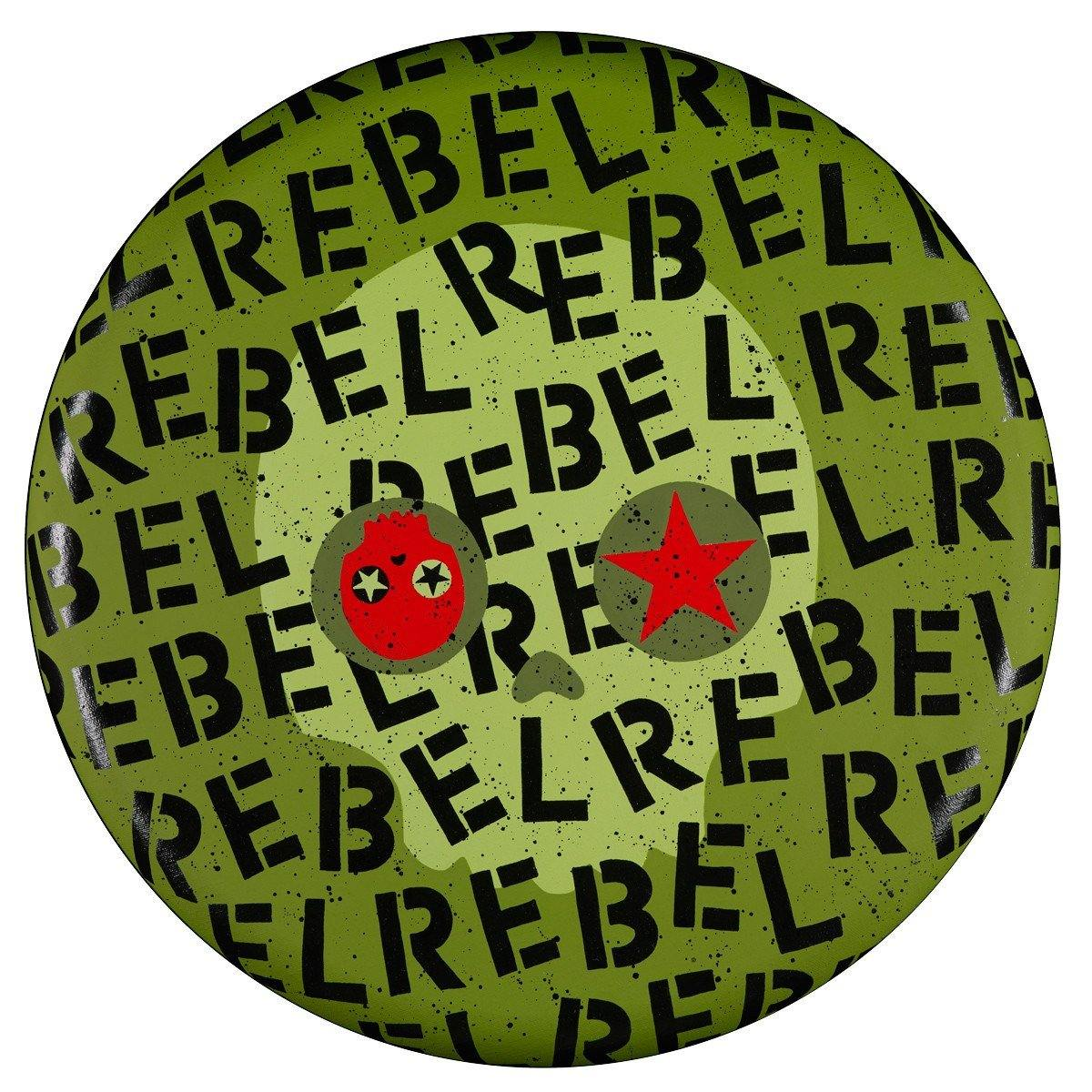 "Rebel Army Green 20"" Round - Original 