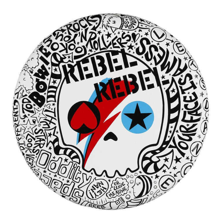 "Rebel Rebel 20"" Round - The Art Of Nan Coffey"