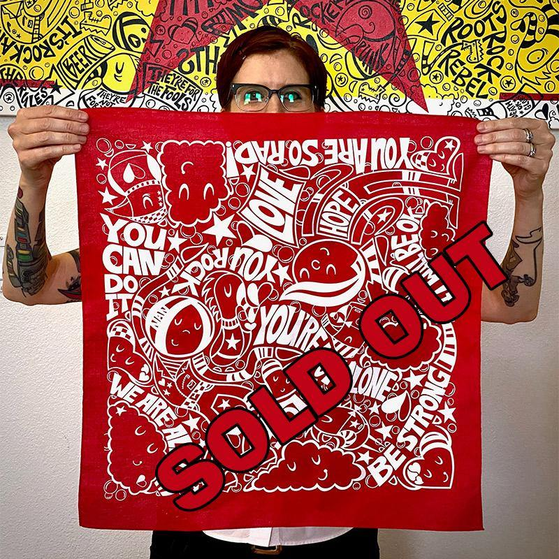 RED You're Not Alone Lightweight BANDANA