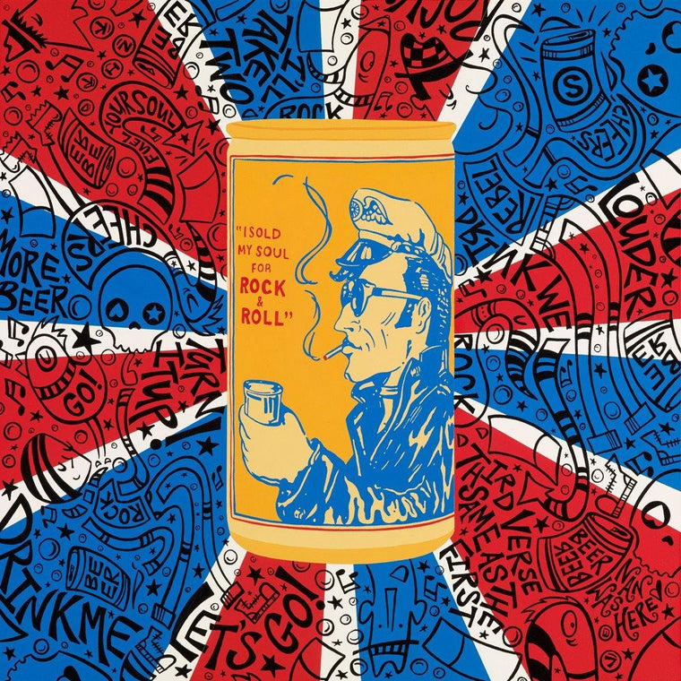 Rock & Roll Beer Can Back | The Art and Fun Of Nan Coffey | NanWasHere - 1