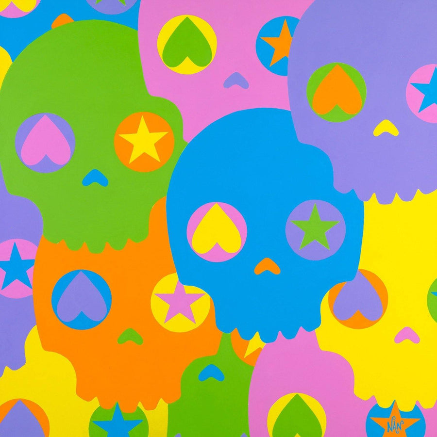 Skulls Square | Fine Art and Limited Edition Prints | The Art Of Nan Coffey