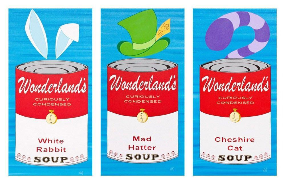 White Rabbit Wonderland Soup Can - Signed Prints | Fine Art and Limited Edition Prints | The Art Of Nan Coffey