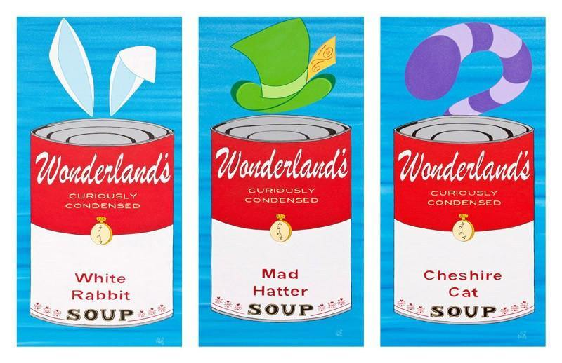 Wonderland Soup Cans | Fine Art and Limited Edition Prints | The Art Of Nan Coffey