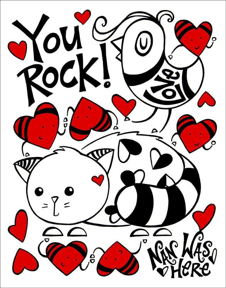 You Rock! | The Art and Fun Of Nan Coffey | NanWasHere