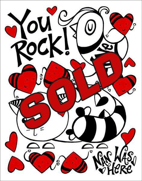 You Rock! - Original | Fine Art and Limited Edition Prints | The Art Of Nan Coffey