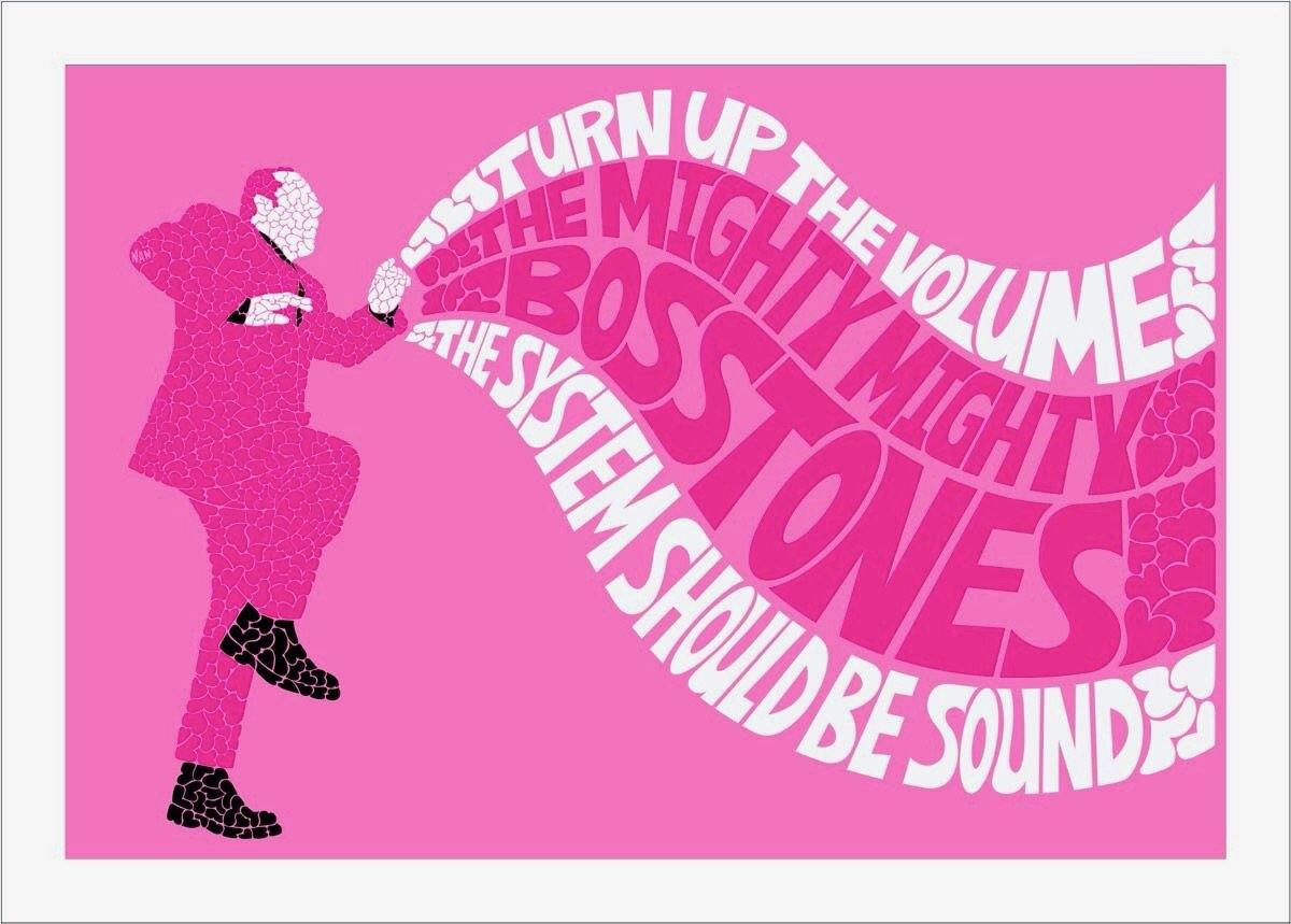 Hearts All Over Mighty Mighty BossTones - Full set of 12 prints - The Art Of Nan Coffey