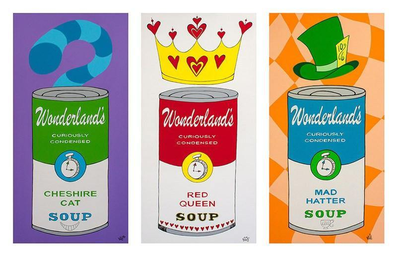 Wonderland Soup Cans #2 | Fine Art and Limited Edition Prints | The Art Of Nan Coffey