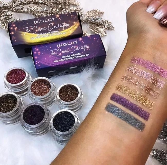 INGLOT COSMIC COLLECTION SHIMMER AND GLITTER PIGMENTS