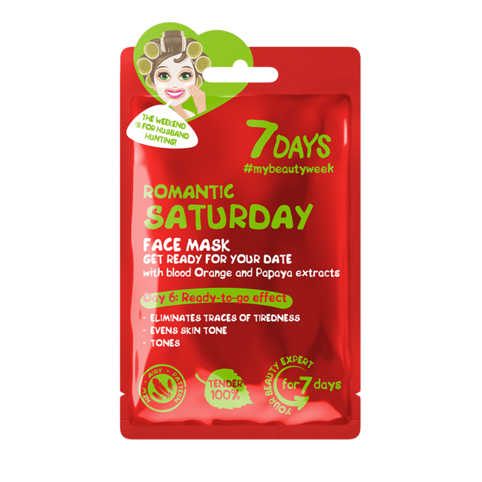 7DAYS - FACE MASK - ROMANTIC SATURDAY