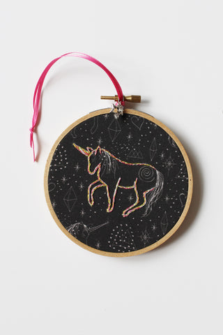 Rainbow Constellation Unicorn Ornament