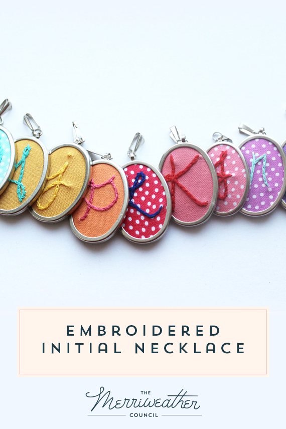 Personalized Initial Necklace with Hand Stitching