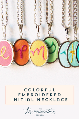 Custom Hand Embroidery - Personalized Initial Jewelry