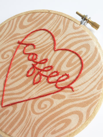Coffee Lover's Tree Carving Hoop