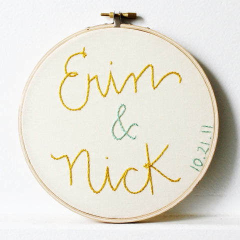 Personalized Two Year Wedding Anniversary Gift of Cotton