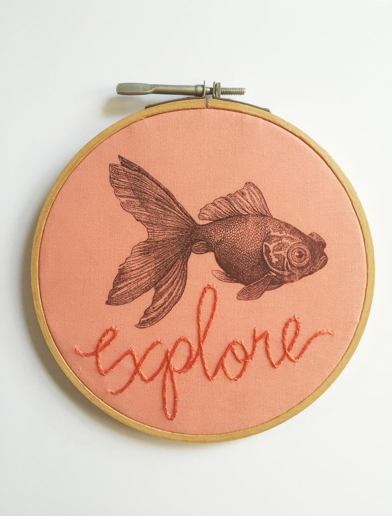 Explore Hoop Wall Art with Fish + Charm