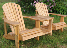 Load image into Gallery viewer, Handcrafted Cedar Straight Double Adirondack/Muskoka Tete-a-Tete Chair