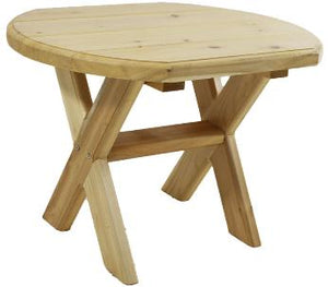 Heavy Duty Cedar Side Table