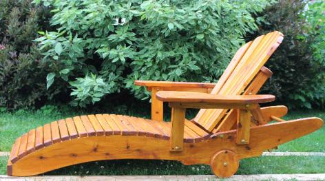 White Cedar Lounge Chair Kit (Heavy Duty Or Regular)