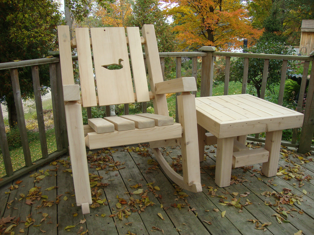 Cedar Log Muskoka Rocker Kit