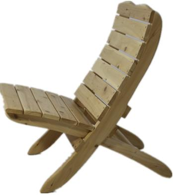 Cedar Folding Beach Chair Kit