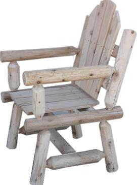 Handcrafted Heavy Duty White Cedar Log Chair Kit