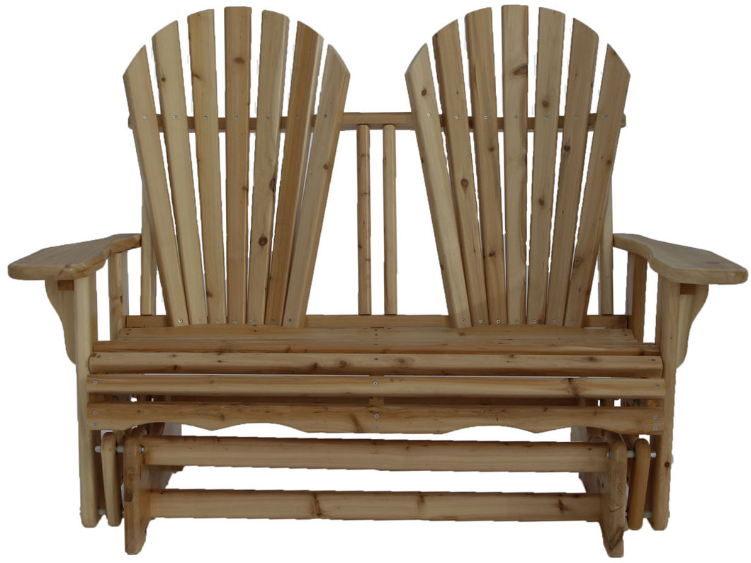 Fan Back White Cedar Glider Bench Kit