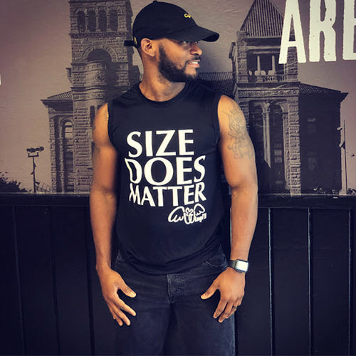 Size Does Matter Tank (Black/White)
